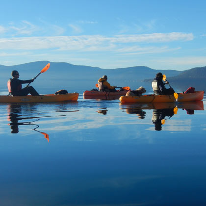 Kayaking Lake Tahoe on a Hobie Kayak from Tahoe City Kayak