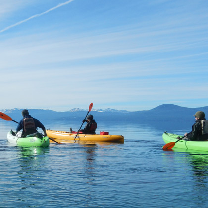Kayaking Lake Tahoe on a Hobie Kayak from Tahoe City Kayak at Sandharbor