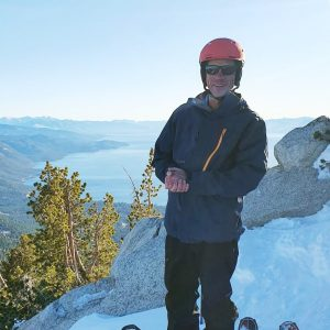 tom skiing in the backcountry above incline